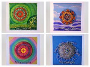 Canvas creaties ~ handgemaakte mandala creaties op geschilderd canvas
